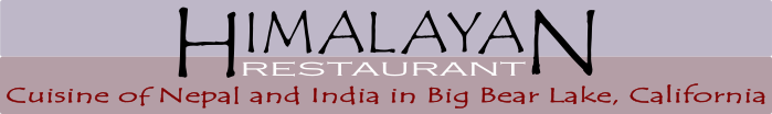 Food of India in Big Bear